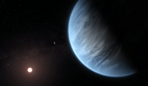 space-pics:  Exoplanet K2-18b (Artist's Impression) by Hubble Space Telescope / ESA: space-pics:  Exoplanet K2-18b (Artist's Impression) by Hubble Space Telescope / ESA