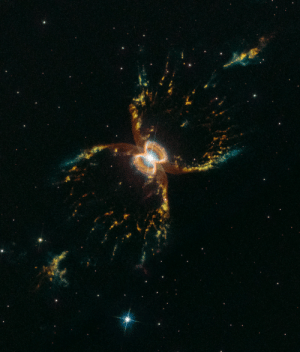 Tumblr, Blog, and Earth: space-pics:Hubble Celebrates 29th Anniversary with a Colorful Look at the Southern Crab Nebula. The nebula, officially known as Hen 2-104, is located several thousand light-years from Earth in the southern hemisphere constellation of Centaurus.[1707 x 2000]