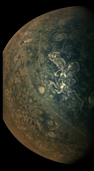 space-pics:  Latest image of Jupiter captured by the Juno Spacecraft!: space-pics:  Latest image of Jupiter captured by the Juno Spacecraft!