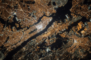 space-pics:  New York as seen from the International Space Station: space-pics:  New York as seen from the International Space Station