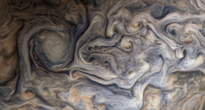 space-pics:  Northern storms on Jupiter from Juno's Perijove 26. Color enhanced.: space-pics:  Northern storms on Jupiter from Juno's Perijove 26. Color enhanced.
