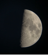 Tumblr, Blog, and Http: space-pics:  [OC]Tremendous half crescent moon tonight