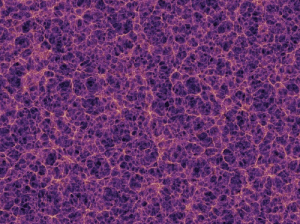 "space-pics:  Our universe, the ""cosmic web"". Each yellow dot is a galaxy. The purple streams represent dark matter. This image represents 0.000001% of the known universe.: space-pics:  Our universe, the ""cosmic web"". Each yellow dot is a galaxy. The purple streams represent dark matter. This image represents 0.000001% of the known universe."