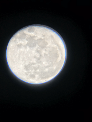 space-pics:  Picture of the Moon I took with a small, store bought telescope, and my old iPhone 7. December, 2017: space-pics:  Picture of the Moon I took with a small, store bought telescope, and my old iPhone 7. December, 2017