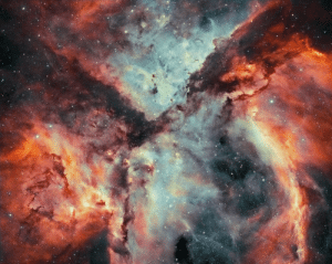 space-pics:  Stars, Gas, and Dust Battle in the Carina Nebula: space-pics:  Stars, Gas, and Dust Battle in the Carina Nebula