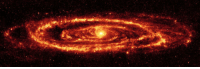Tumblr, Blog, and Http: space-pics:  The Andromeda Galaxy in Infra Red Light by the Spitzer Space Telescope [7196x2402]