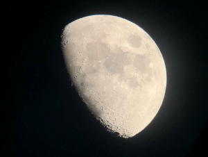 space-pics:  The Moon in waxing gibbous phase in September 2019. [OC]: space-pics:  The Moon in waxing gibbous phase in September 2019. [OC]