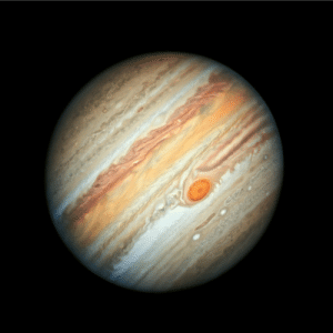 Taken, Tumblr, and Blog: space-pics:  This new Hubble Space Telescope view of Jupiter, taken on June 27, 2019, reveals the giant planet's trademark Great Red Spot, and a more intense color palette in the clouds swirling in Jupiter's turbulent atmosphere than seen in previous years. [1999 × 2000]