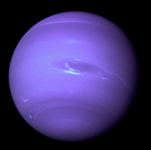 Taken, Tumblr, and Blog: space-pics:  This picture of Neptune was produced from the last whole planet images taken through the green and orange filters on the Voyager 2 narrow angle camera. The images were taken at a range of 4.4 million miles from the planet, 4 days and 20 hours before closest approach. [2188 x 2185]