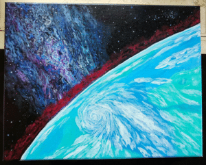 Tumblr, Blog, and Space: space-pics:Under The Milky Way (Acrylic Painting)