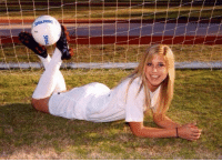 Alex Morgan in high school. *wipes drool*: SPALDING Alex Morgan in high school. *wipes drool*