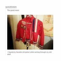 Tumblr, Bbs, and Swipely: sparkafterdark:  The good news:  found my favorite old jacket while sorting through my old  Stuff SWIPE BBS