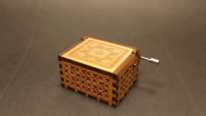 Family, Friends, and Gif: sparklezoi:  the-shipping-machine:  saltycaffeine:  Original hand crank Music Box, just turn the handle and it will play this well-known tune. Hum to the Harry Potter Theme song, Beauty and the Beast and Many more! No batteries Needed!  These music boxes makes a great gift for your friends and family! *USE CODE: MUSICAL FOR A DISCOUNT* = GET YOUR MUSIC BOX HERE =  I crave this Harry Potter music box  I just ordered the Star Wars one for a friend. I think he will love it.