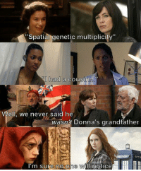 Memes, Never, and 🤖: Spatial genetic multiplicity  had a cousin  Well, we never said he  wasnt Donna's grandfather  I'm sure no one Will noticel