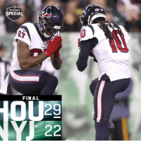 Memes, Texans, and 🤖: SPECIAL  27  FINAL  29 FINAL: The @HoustonTexans improve to 10-4! #Texans  #HOUvsNYJ https://t.co/4tvAzr08Vc
