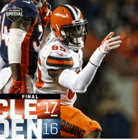Alive, Memes, and Browns: SPECIAL  FINAL  16 FINAL: The @Browns get a crucial win to keep their playoff hopes alive! #Browns  #CLEvsDEN https://t.co/LJ8IlSLsF1