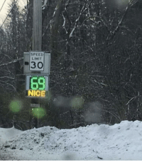 Thank you thank you very much: SPEED  LIMIT  #30  69  NICE Thank you thank you very much