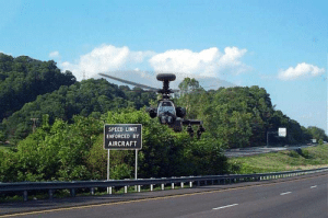 speed limit enforced by aircraft: SPEED LIMIT  ENFORCED BY  AIRCRAFT