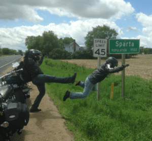 Tumblr, Blog, and Michigan: SPEED  LIMIT  Sparta  4.5  POPULATION 9522 lolzandtrollz:Meanwhile In Sparta, Michigan