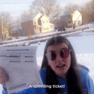 """Holy Sh*t!"" This grandma's reaction to her granddaughter getting a speeding ticket is hilarious 😂😂: speeding ticket! ""Holy Sh*t!"" This grandma's reaction to her granddaughter getting a speeding ticket is hilarious 😂😂"