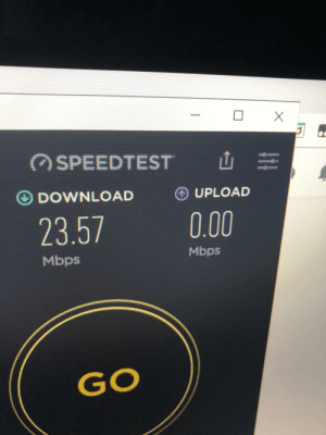 Wifi, Top, and Download: SPEEDTEST  O DOWNLOAD  O UPLOAD  0.00  23.57  Mbps  Mbps  GO  C Top tier WiFi