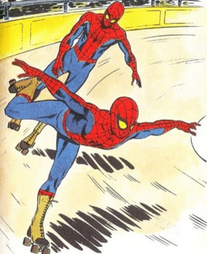 Spider, SpiderMan, and Weird: Spider-Man's got weird part time job with his clone