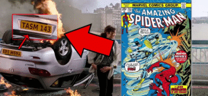 (SPIDER-MAN FAR FROM HOME-2019) In the scene where Peter and MJ kiss there is a car with with the number plate being TASM 143, which is a nod to The Amazing Spider-Man comic where Peter and MJ First Kiss!: (SPIDER-MAN FAR FROM HOME-2019) In the scene where Peter and MJ kiss there is a car with with the number plate being TASM 143, which is a nod to The Amazing Spider-Man comic where Peter and MJ First Kiss!