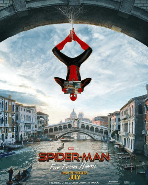 Memes, Spider, and SpiderMan: SPIDER-MAN  ONLY IN THEATER New poster for Spider-Man: Far From Home!