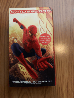 """Music, New York, and News: SPIDER-MAN  TM  BONUS!  Contains the  music video  """"HERO""""!  57  WONDROUS TO BEHOLD.""""  -Jack Matthews, NEW YORK DAILY NEWS  177 Spider-Man on VHS"""