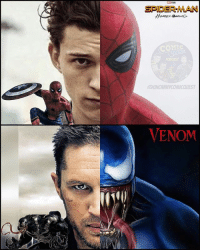 A Dream, Bad, and Click: SPIDER-MAN  UNCA MNVCOMIcaUEST  VENOM Still can't wrap my head around this. Seeing these two face off in a film together would be a dream come true. How bad do you guys want this? Comment below👇🏼 . . 🚨don't forget to CLICK THE LINK IN MY BIO to subscribe to our YouTube channel for your chance to win FREE JUSTICE LEAGUE GEAR!🚨 . . . tomhardy tomholland spiderman spidermanhomecoming venom mcu captainamerica doctorstrange ironman hulk thor thorragnarok blackwidow scarletwitch scarlettjohansson elizabetholsen avengers avengersinfinitywar guardiansofthegalaxy guardiansofthegalaxyvol2 xmen mutant inhumans agentsofshield ghostrider