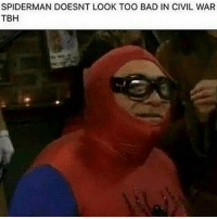 Danny DeVito as Spider Man plz: SPIDERMAN DOESNT LOOK TOO BAD IN CIVIL WAR  TBH Danny DeVito as Spider Man plz