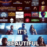 its beautiful: SPIDERMAN  THOR  RAGNAROK.  LEAGIC  LACK  WASP  THE  CAPTAIN  AGENTS OF  MARVEL  iri.i.E.L.D  COMING 2013  HUMR  DEFENDER  DC AND MARVEL  IT'S  BEAUTIFUL