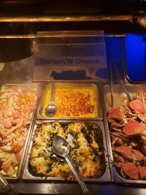 Chinese, Engrish, and Cheese: Spinash/W Cheese  2 At the Chinese Buffet nearby, Spinash with cheese.