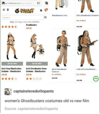 I'm not sure people realize how tiring it is to be on Instagram for almost 3 hours a day: spiri hallow cen corr fivmonail po  Ghostbusters and...  Girls Ghostbuster Costume  SEARCH  out of stock  Only 101 Days Until HALLOWEEN!  Ghostbusters  $29.99  $49.99  ONLINE ONLY  ONLINE ONLY  Adult Sexy Ghostbusters  Adult Ghostbusters Dress  Adult Ghostbuster  Little Girls Ghostbuster...  Costume Ghostbusters  Costume Ghostbusters  Costume  $49.99  Out of Stock  $49.99  Out of Stock  $49.99  $29.99  Captain stevedoritopants  women's Ghostbusters costumes old vs new film  Source: captainstevedoritopants I'm not sure people realize how tiring it is to be on Instagram for almost 3 hours a day