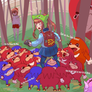 These memes will last forever by RalphTV FOLLOW 4 MORE MEMES.: Spit on the Fake Queen!  Do You Know the Way  My  MERSH  *SPITS  You Do Not Know the Way  Fake Lueen!  I Want To Bo Ta Ugandan  ww  YOU DO NOT KNO DE WAY OF DE DEVAL  Do Not Know the Way?  XENDHYBRIDA ART These memes will last forever by RalphTV FOLLOW 4 MORE MEMES.
