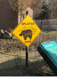 "Funny, Weird, and Sad: SPLATTER  ZONE Most signs just say ""Danger"" or ""Keep Out"" but these ones have more of a flair for the dramatic. #signs #scary #weird #terrifying #funny #sad"