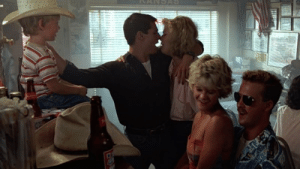 """(Spoiler) The main reason that Goose dies in """"Top Gun"""" isn't the mishap with his ejection before the crash, but because he did not have sex with his wife Carole after she speicifically tells him to, """"take her to bed or lose her forever."""": (Spoiler) The main reason that Goose dies in """"Top Gun"""" isn't the mishap with his ejection before the crash, but because he did not have sex with his wife Carole after she speicifically tells him to, """"take her to bed or lose her forever."""""""
