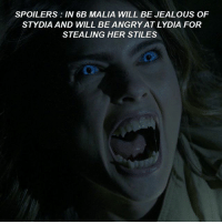 Jealous, Memes, and 🤖: SPOILERS IN 6B MALIA WILL BE JEALOUS OF  STYDIA AND WILL BE ANGRYATLYDIA FOR  STEALING HER STILES SPOILERS ALERT 💢 So do you think Lydia is in fault for stealing Stiles to Malia ? 😱😂