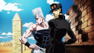 *Spoilers?* In this part it is explained that Jotaro met Polnareff in the 1990s to search fo1990s the arrows. The 1990s go from 1990 to 1999 and we know its not during part 4 obviously so its earlier. Point is Jotaro had Jolyne in 1992, so does Polnareff knows about Jolyne's existence?: *Spoilers?* In this part it is explained that Jotaro met Polnareff in the 1990s to search fo1990s the arrows. The 1990s go from 1990 to 1999 and we know its not during part 4 obviously so its earlier. Point is Jotaro had Jolyne in 1992, so does Polnareff knows about Jolyne's existence?