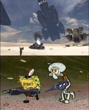 Spongebob and Squidward travel to the arch: Spongebob and Squidward travel to the arch