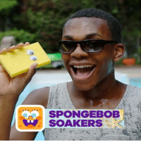 Keep cool by the pool with this sponge soaker DIY! 💦 spongebob: SPONGEBOB  SOAKERS Keep cool by the pool with this sponge soaker DIY! 💦 spongebob