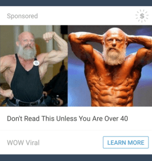 Trash, Tumblr, and Wow: Sponsored  Don't Read This Unless You Are Over 40  WOW Viral  LEARN MORE gucciballs:If you're under 40 this man will come to your house and beat you to death with a trash can