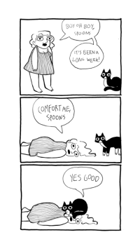 Tumblr, Blog, and Good: SPOONS  IT'S BEEN A  LONG WEEK  OMFORTME  SPOONS  O.O  YES 600D unicornempire: abby-howard:  A mini comic agaaain  Good Spoons.