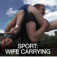 Cute, Funny, and Memes: SPORT  WIFE CARRYING JUL 24: Fifteen couples take part in a wife-carrying race in Belarus. They had to cross swamps and tackle obstacles over a 500-metre course. For more: bbc.in-ukwifecarrying sports funny sporty funnyvideos haha belarusgram couplegoals instavideo hilarious cute funnyvideo amazing omg playful husbandandwife games lifting workout workoutmotivation play playtime belarus videogram news video bbcnews bbcshorts @bbcnews