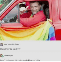 """Feminism, Lgbt, and Love: sportarobbie-feels  I love this? So much???  iakemorph  ican't believe robbie rotten ended homophobia HOTLINES: 