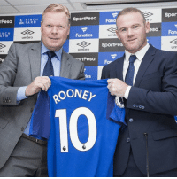 @waynerooney has been officially unveiled as an @everton player. @manchesterunited and @england's record goalscorer completed an emotional return to his boyhood club on Sunday. Rooney Everton EFC: SportPea  Spor  USM FARM  Fana  ro  ICH  ARM  asa  umbro  Fanatics  umb  Fan  SportPes  ro  umbro  um  ortPesa  For  ics @waynerooney has been officially unveiled as an @everton player. @manchesterunited and @england's record goalscorer completed an emotional return to his boyhood club on Sunday. Rooney Everton EFC