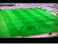 Memes, Sports, and Weird: SPORTS  HD  10:16 BAR 0 0  LPA GEICO Barca playing in empty Camp Nou is just weird fans catalunya catalonia