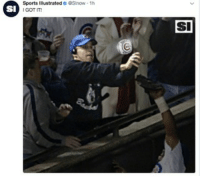 Mlb, Sports, and Cubs: Sports Illustrated Slnow-1h  I GOT IT  SI  SI Cubs are giving Bartman a ring!!