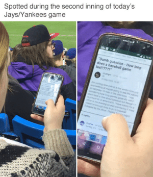 New York Yankees, Game, and Jays: Spotted during the second inning of today's  Jays/Yankees game  game