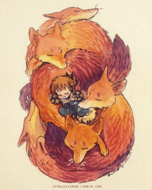sprezzaturan: My piece for the Rumiko Takahashi tribute show at Qpop I was super into the manga when I was younger, and of course I have to go with the fox character :) : sprezzaturan: My piece for the Rumiko Takahashi tribute show at Qpop I was super into the manga when I was younger, and of course I have to go with the fox character :)